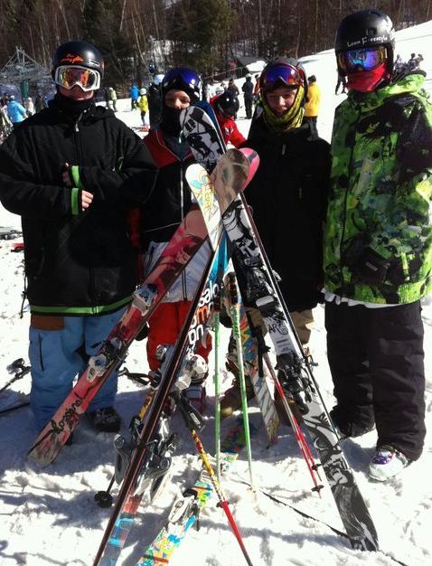 Teepee of skis
