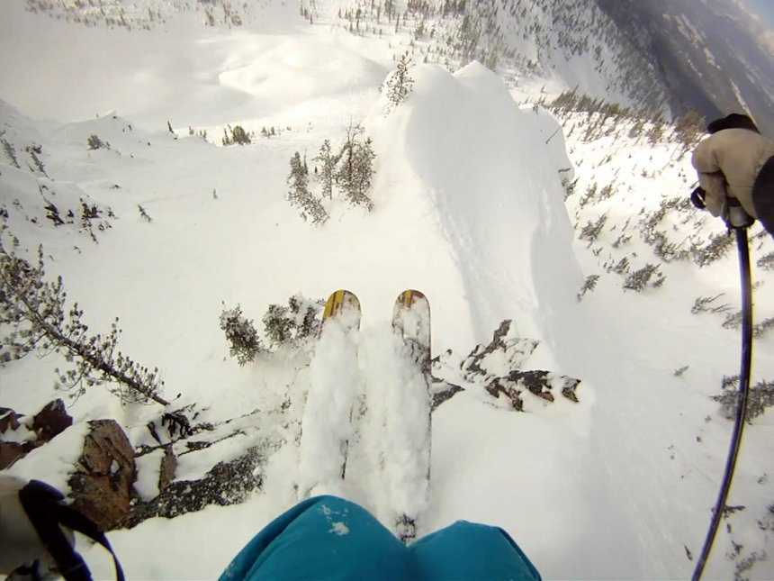 Kicking horse dropping in