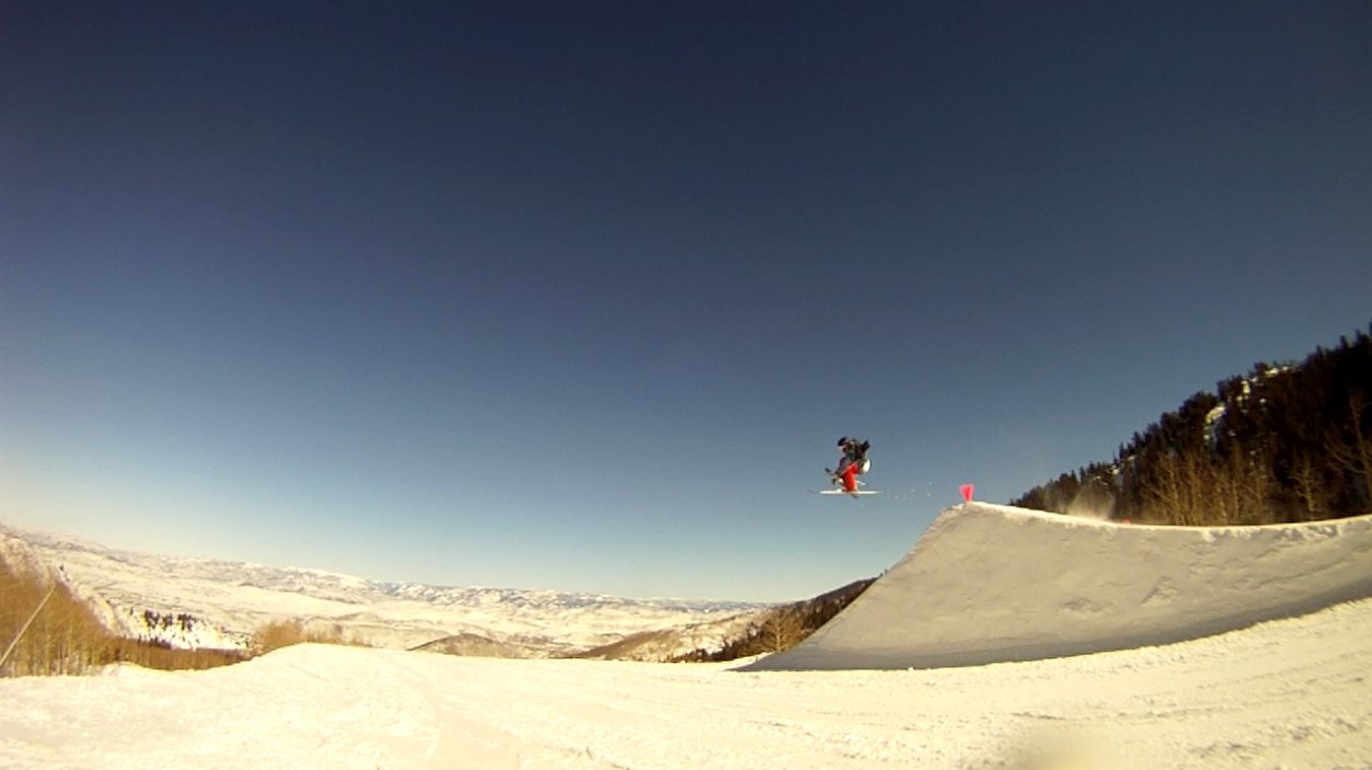 First jump at Canyons Terrain Park
