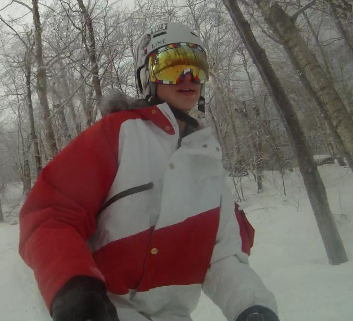 Tree skiing!