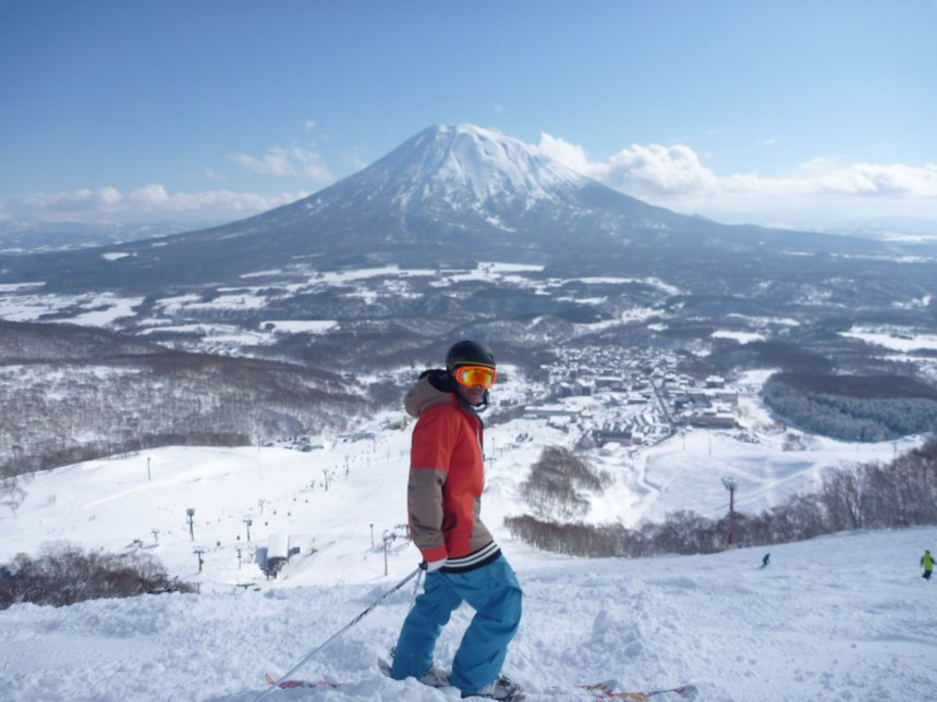 View of Mt Yotei from the Niseko slopes
