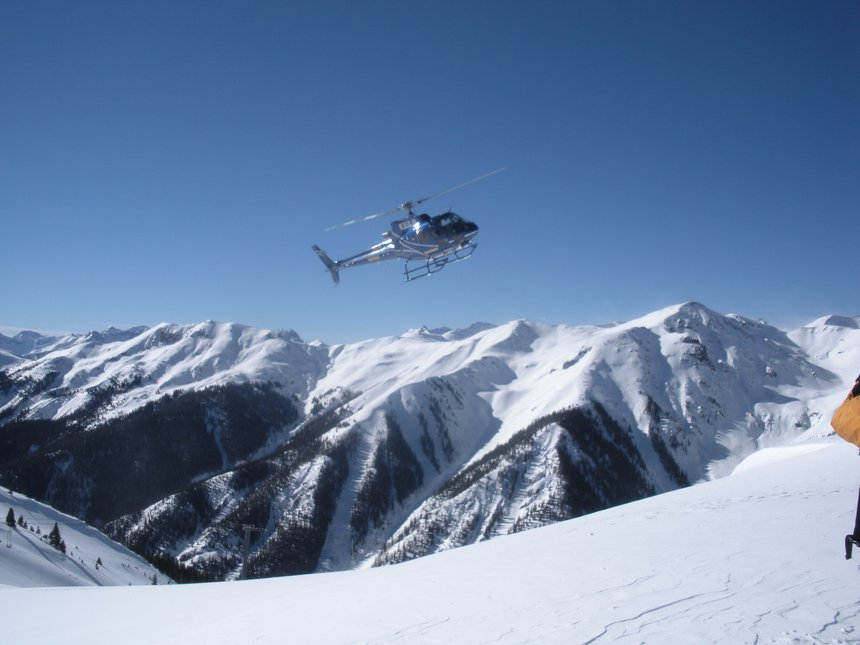 Heli shred at Silverton