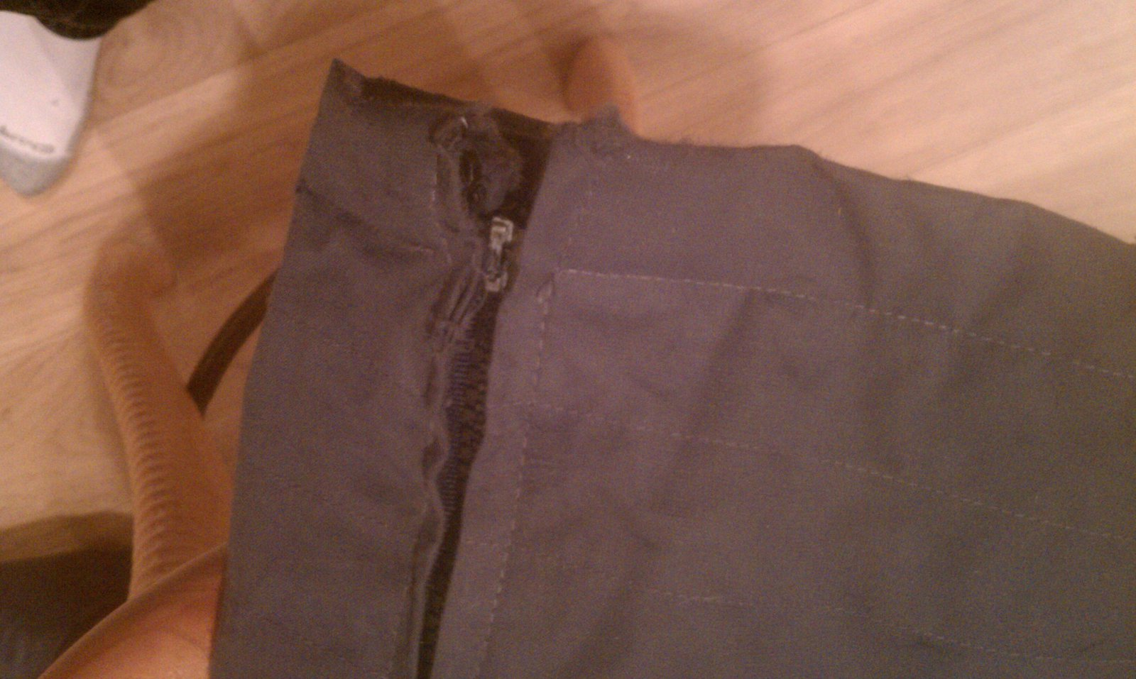 Zipper damage