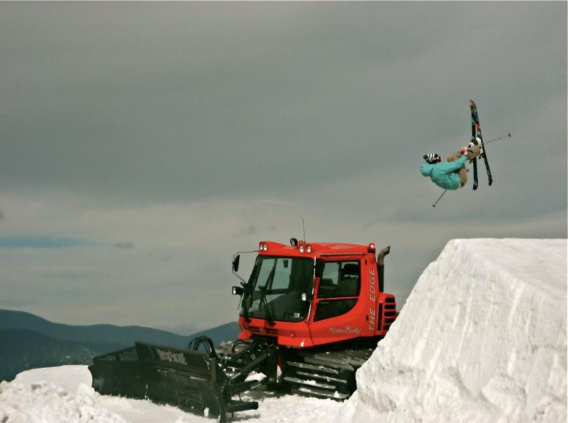 Snowcat jump