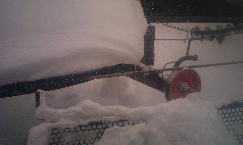Buried chairlift boreal