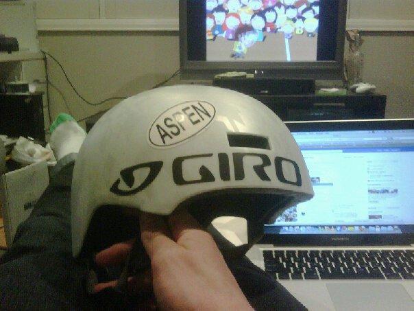 Helmet sticker job