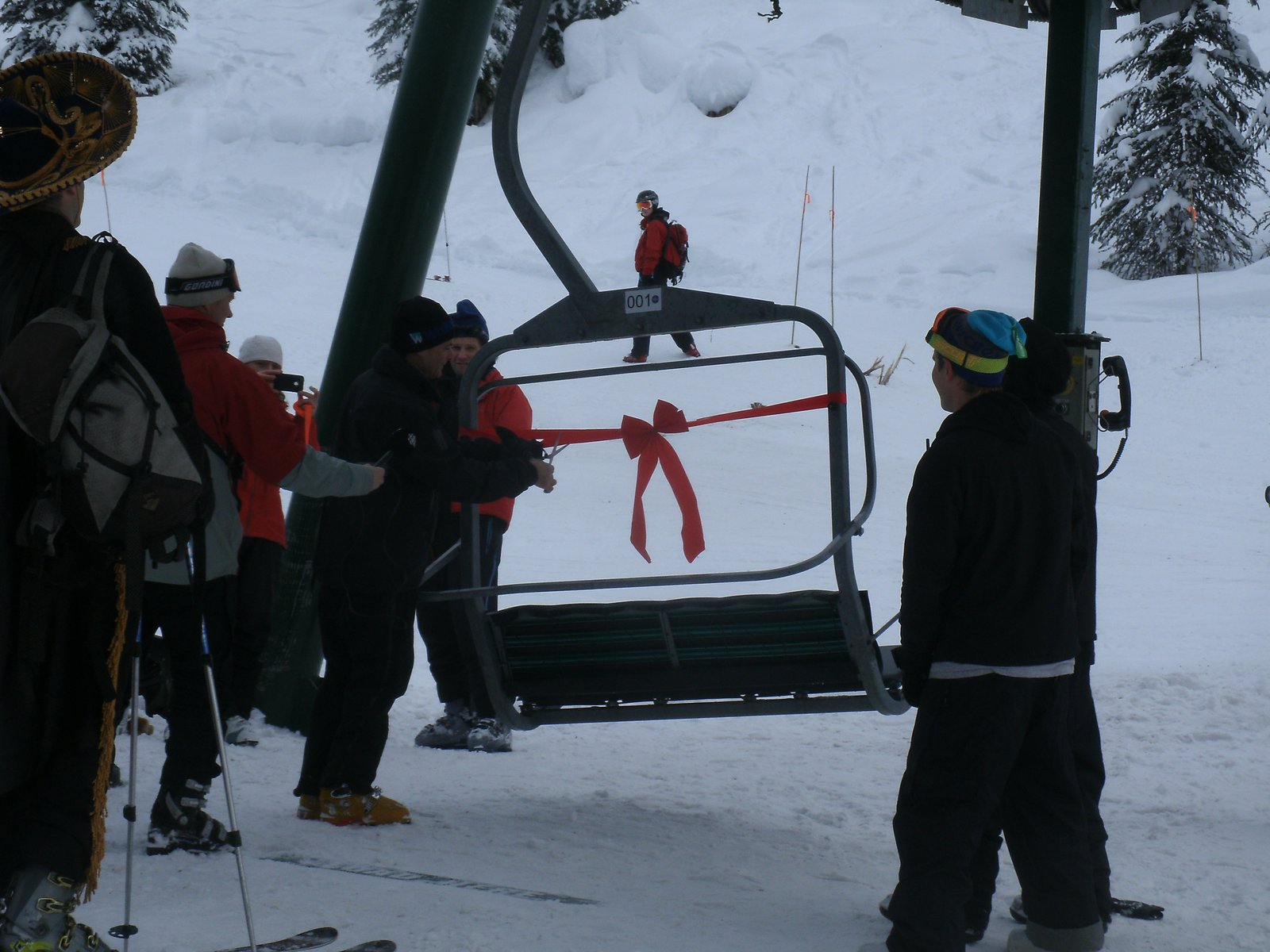 Opening of the glory chair at whitewater B.C.