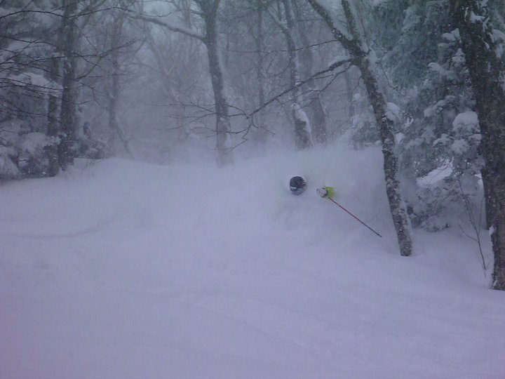 Just another powder day at Jay Peak