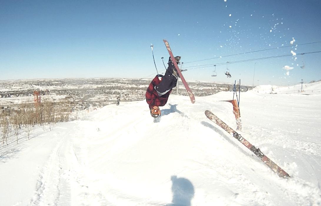 Frontflip ski leave