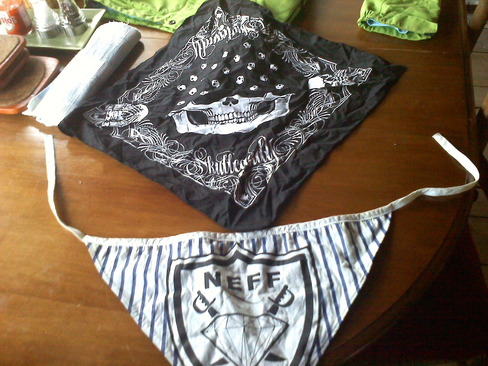 Skull Candy bandanna and neff bandanna
