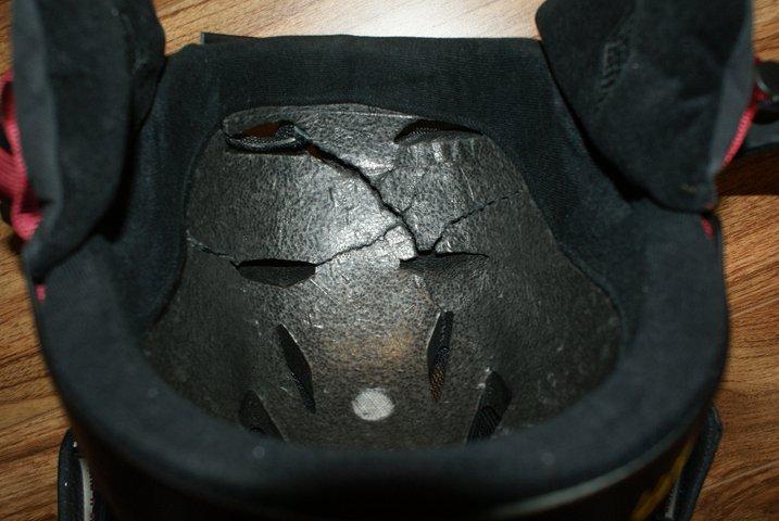 Broken helmet - 1 of 2