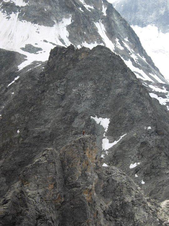 Pa des chevres ridge, suisse