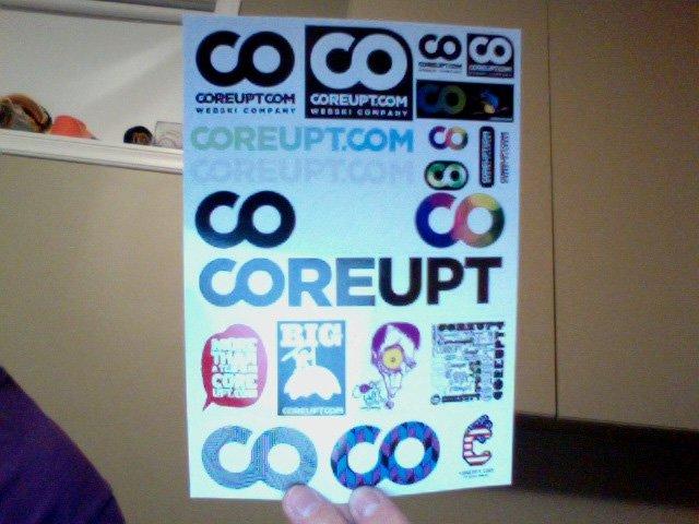 Coreupt stickers
