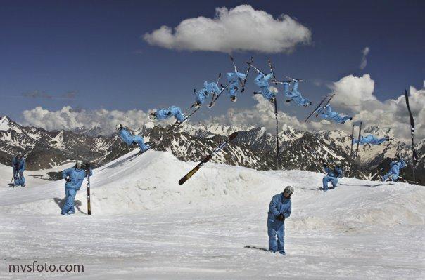 At Elbrus mountain, the Caucasus