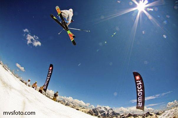 Skiing at Elbrus mountain