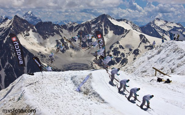 Skiing at Elbrus Mountain