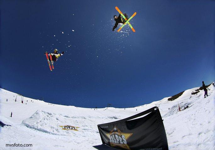 Shooting at Les 2 Alpes