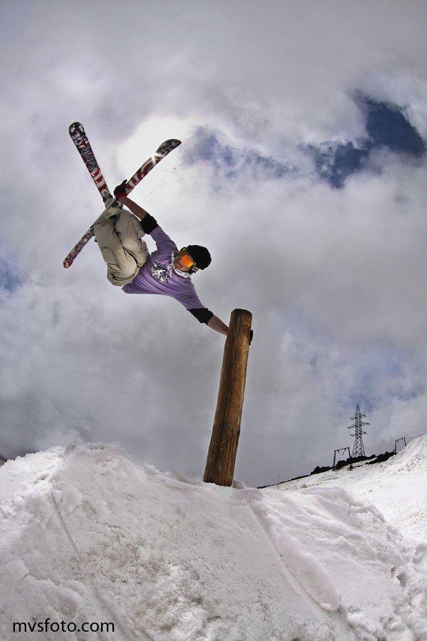 Shooting at Elbrus mountain
