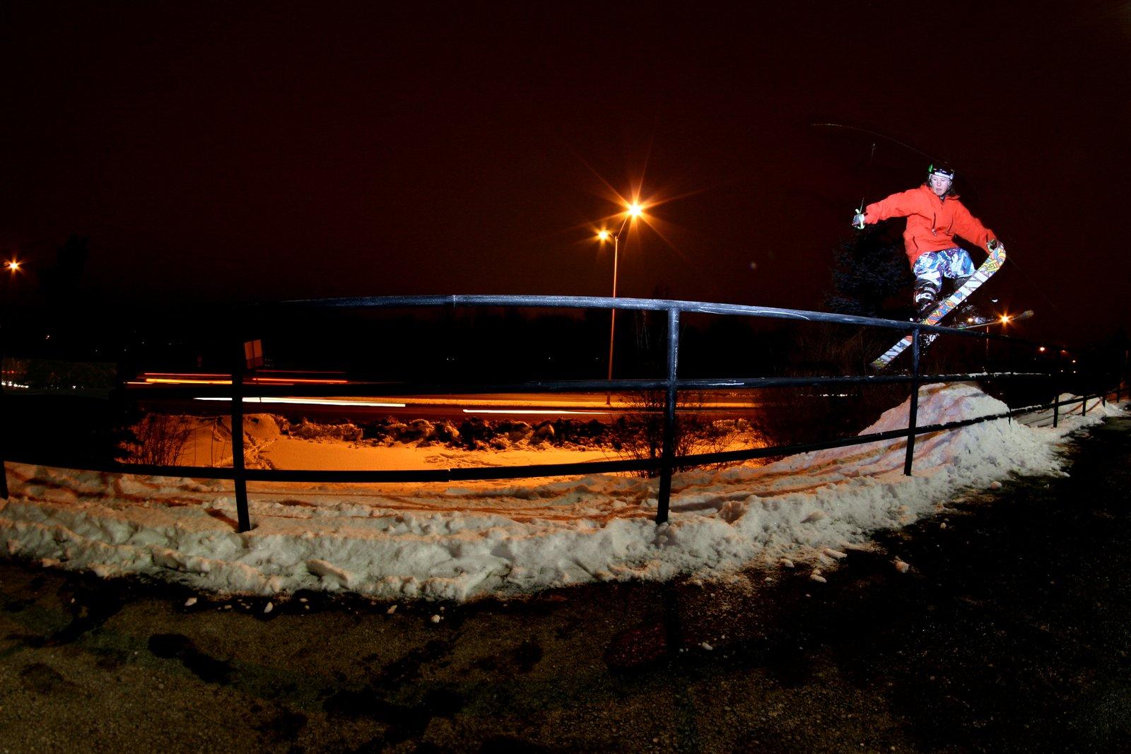 Liam Upton-SKi slide