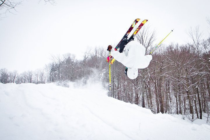 Front Flip on Pow day