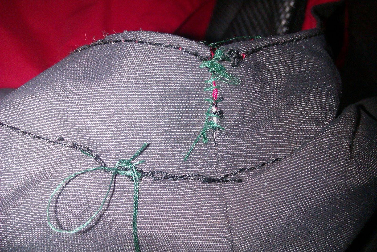 Outside stitching
