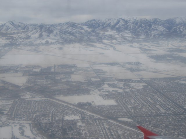 Flying into SLC