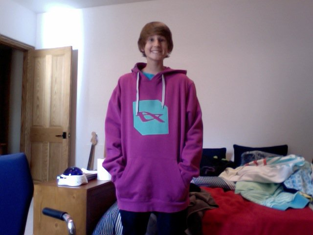 Purple and Green Orage Hoodie