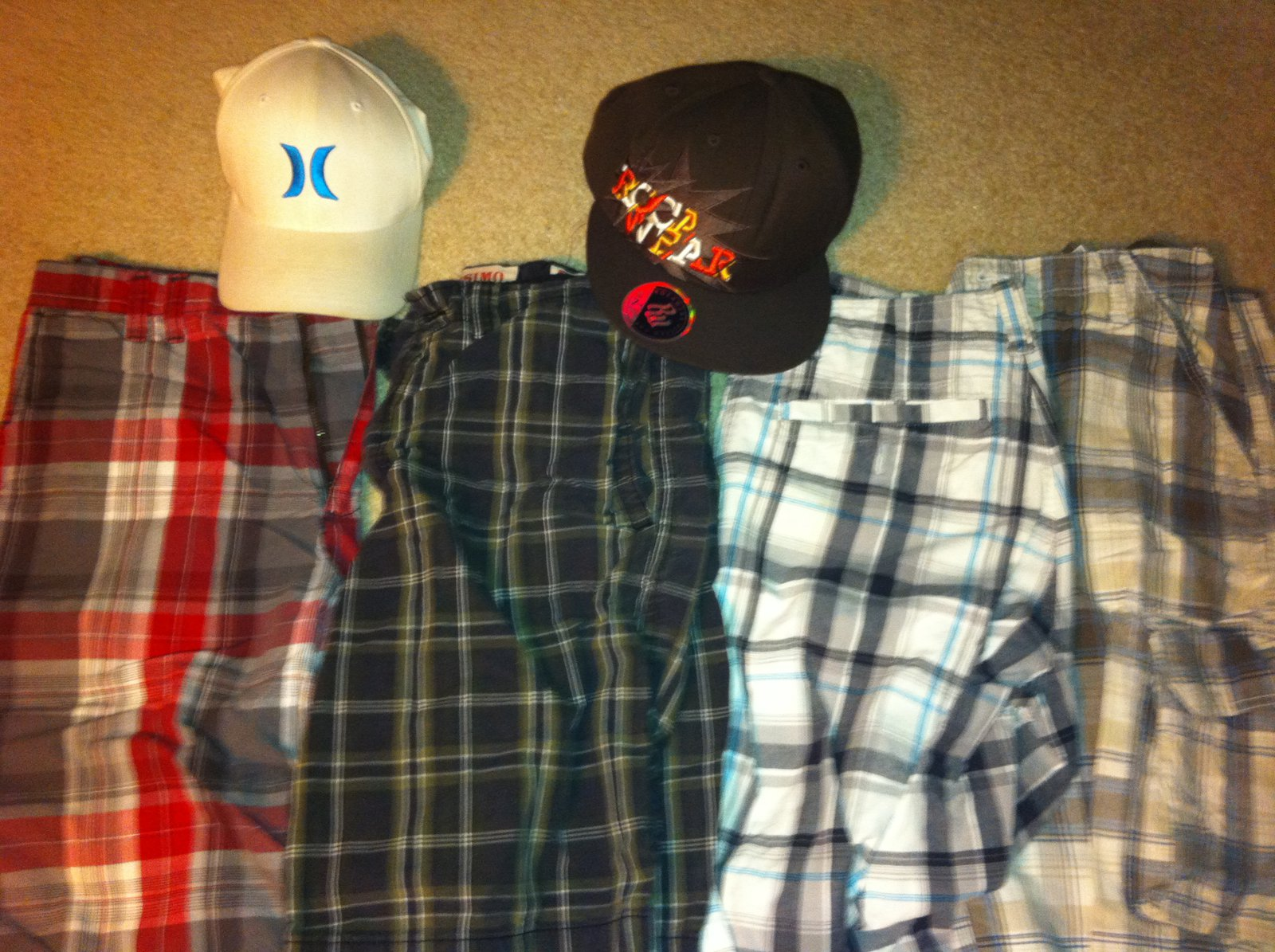 Shorts and hats