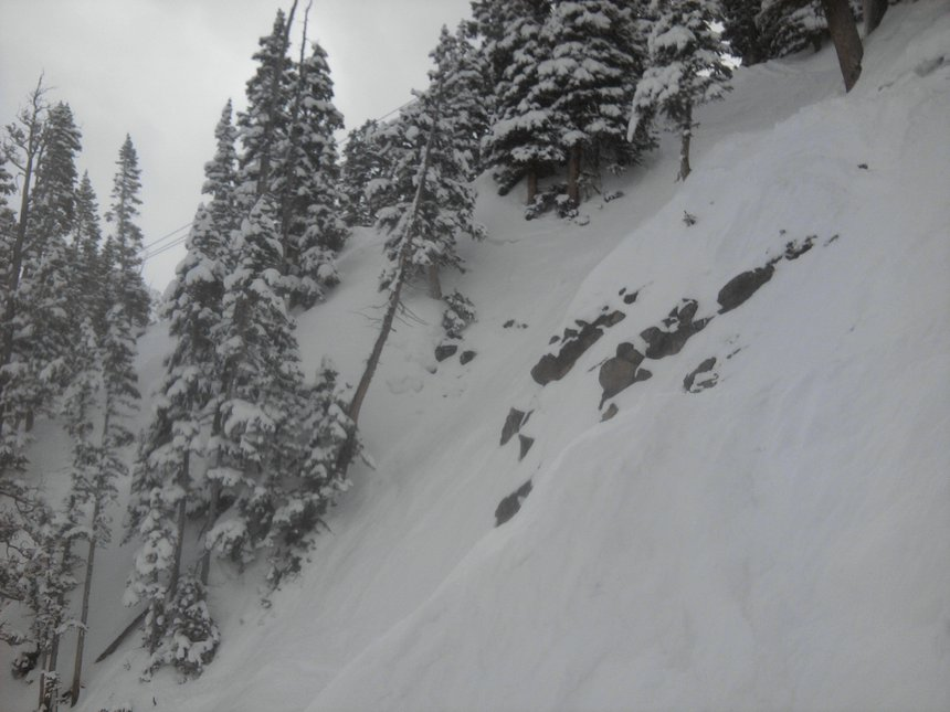 May pow at a basin