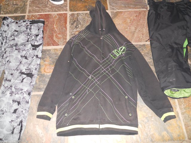 Line black and green hoodie for sale