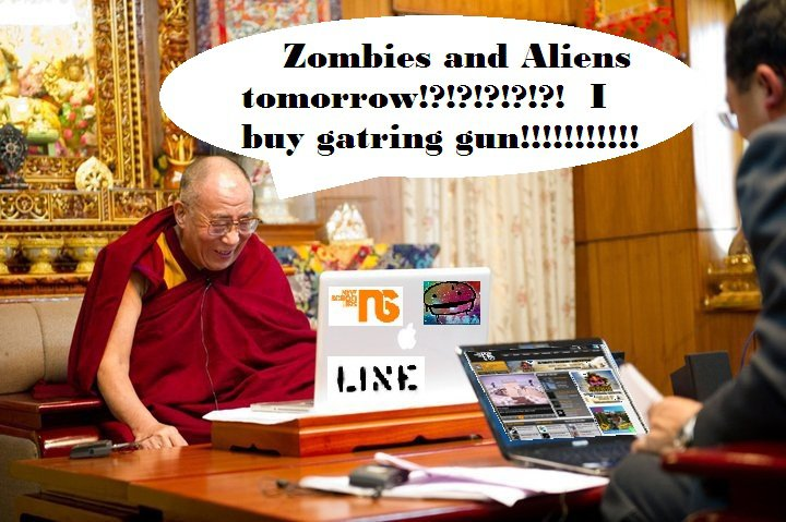Dank Monk on impending Zombies and Aliens