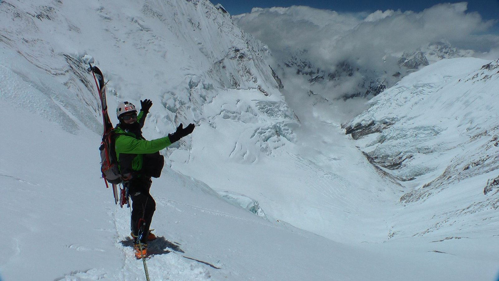 Kris erickson...about to slay 1/2 the lhotse face