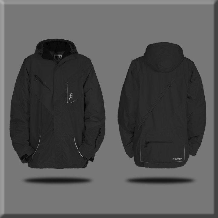 First drop black jacket