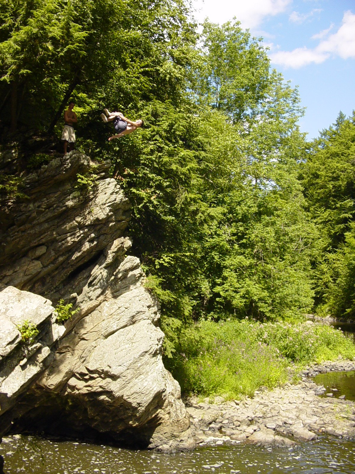 Cliff jump in CT
