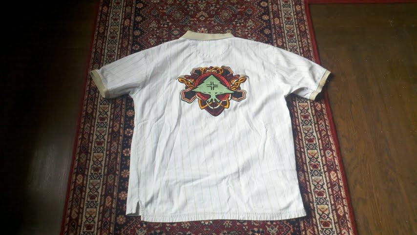 Back of LRG shirt
