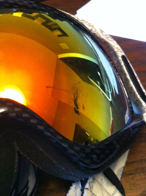 Scuff marks/scratch on goggles