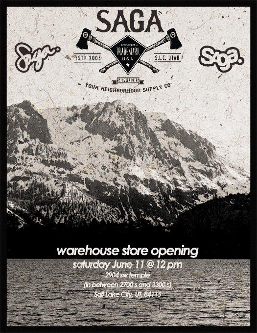 Saga Waehouse Store Opening