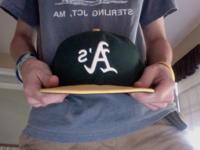 A's hat