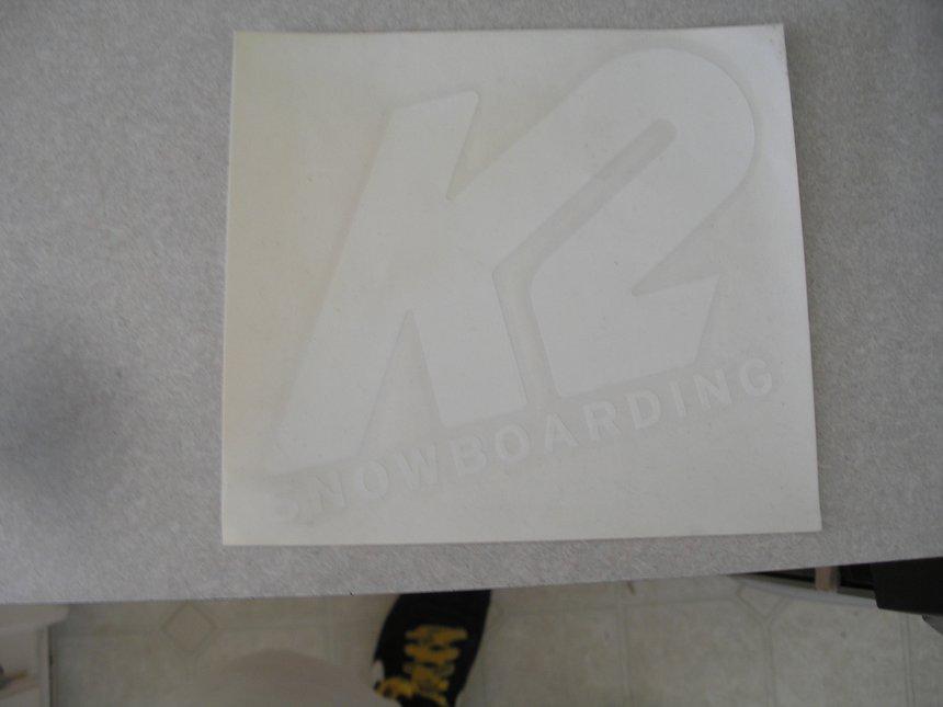 K2 sticker 8inch