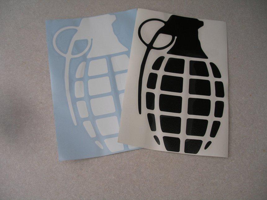 12in Grenade stickers.