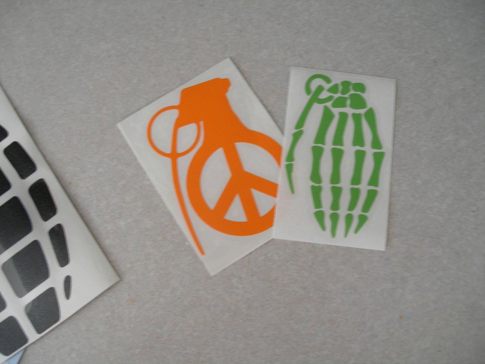 4 inch Grenade stickers