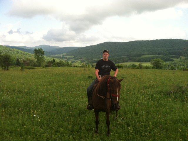 Riding horses in the catskills!!