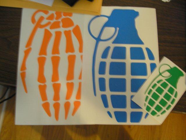 Grande and AgainstTheGrind Lab stickers