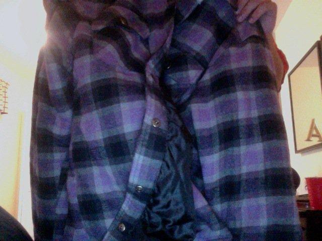 Jiberish purple flannel 2xl