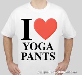 I Heart Yoga pants shirt