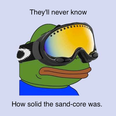 Skier Frog Sandcore