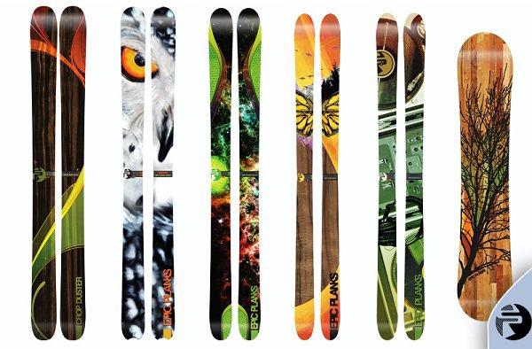 2011-2012 Epic Planks Handmade Skis Lineup