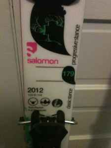 2011 Salomon 2012 Twintips w/ Rossi Freeski 2 Bindings #2