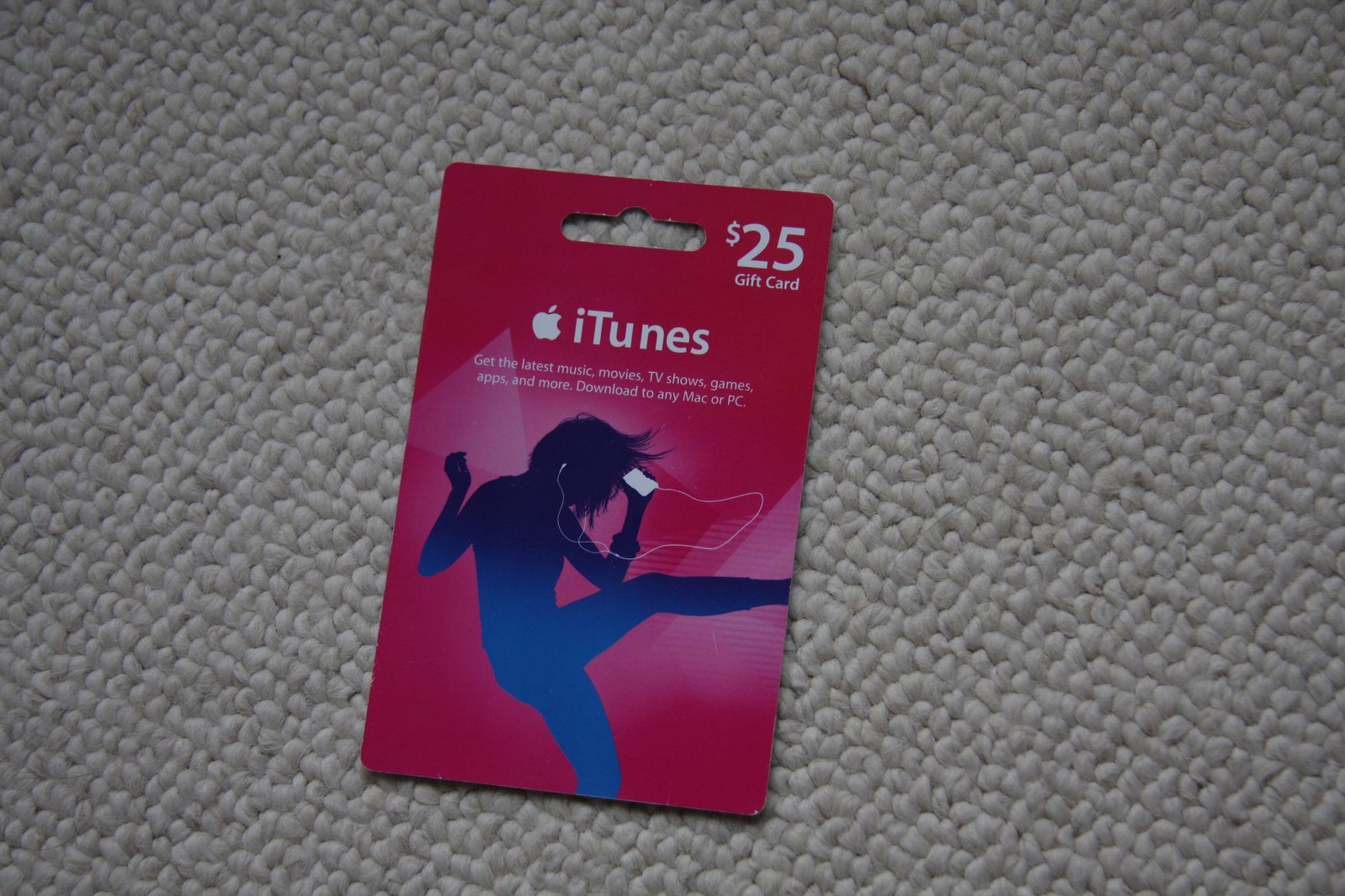 Intunes 25$ giftcard