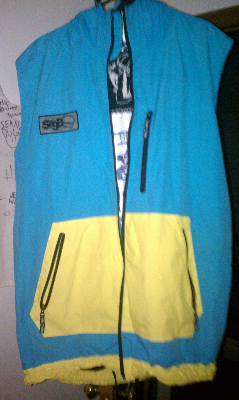 Blue goo vest